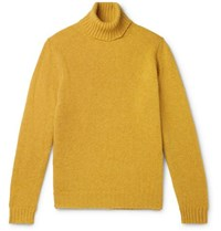 Man 1924 Shetland Wool Rollneck Sweater Yellow