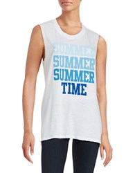 Suburban Riot Summer Time Tank White