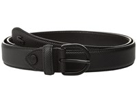 Lacoste 25 Curved Stitched In Box Black Women's Belts