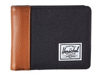 Herschel Edward Rfid Black Tan Synthetic Leather Wallet Handbags