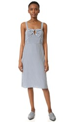Jenni Kayne Sleeveless Striped Dress Navy Ivory