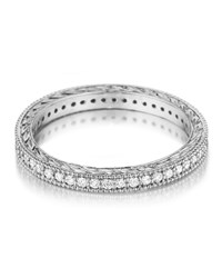 Penny Preville Platinum Diamond Eternity Band Ring Women's