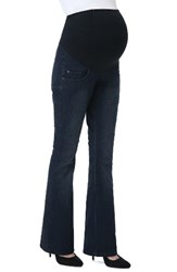 Kimi And Kai Women's Leni Maternity Bootcut Jeans Dark Indigo