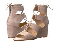 Chinese Laundry Raja Grey Kid Suede Women's Wedge Shoes Gray