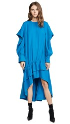 Adeam Ruched Parachute Dress Turqouise