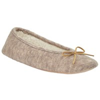 John Lewis Knitted Ballet Slippers Natural