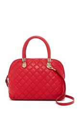 Cole Haan Benson Quilted Leather Dome Satchel Red