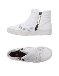 Bb Washed By Bruno Bordese Footwear High Tops And Trainers Women White