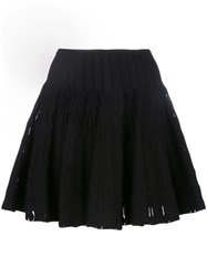Azzedine Alaia Mini Full Skirt Black