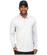 Adidas Climacool Upf Long Sleeve Polo Stone Men's Clothing White