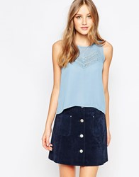Traffic People Candy Rainbow Tone To Tone Top Blue
