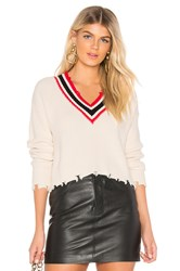 By The Way Elsa Distressed Cropped Sweater Cream