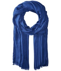Echo Solid Crinkle Wrap Scarf Navy Scarves
