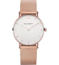 Paul Hewitt Sailor Rose Gold Plated Watch