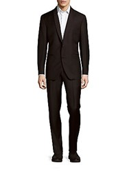 Saks Fifth Avenue Solid Wool Shawl Tuxedo Black