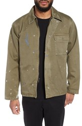 Hudson Jeans Military Jacket Army Paint