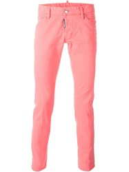 Dsquared2 'Clement' Jeans Pink And Purple