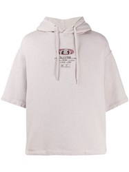 Eytys Relaxed Logo Print Hoodie Neutrals