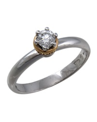 Damiani Platinum Domina Diamond Ring Size 7