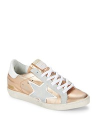 Freebird Low Top Lace Up Sneakers Rose Gold