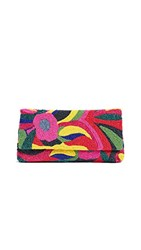 Santi Beaded Floral Clutch Multi