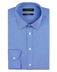 Jaeger Men's End On End Non Iron Shirt Blue