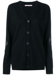 Christopher Kane Knit Cardigan With Heart Details Black