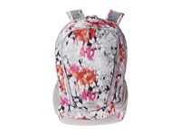The North Face Women's Vault Violet Pink Faceted Floral Print Metallic Silver Backpack Bags Multi