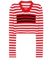 Marc Jacobs Cropped Wool Sweater Red