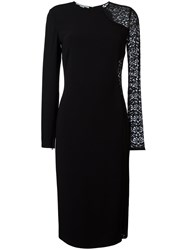 Stella Mccartney Lace Panel Dress Black