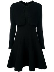 Alaia Vintage Bolero Flared Dress Black