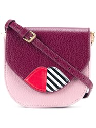 Lulu Guinness 'Amy' Cross Body Bag Pink And Purple