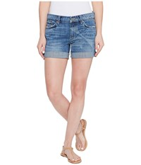 Lucky Brand The Roll Up With Shibori Print Shorts In Little Elm Little Elm Women's Shorts Blue
