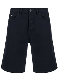 Paul Smith Ps Straight Leg Denim Shorts Blue