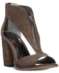 Carlos By Carlos Santana Jury Zip Block Heel Sandals Women's Shoes Dark Doe
