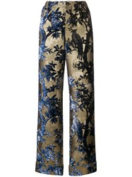 F.R.S For Restless Sleepers Floral Print Trousers Metallic