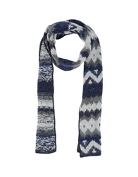 Kangra Cashmere Oblong Scarves Blue