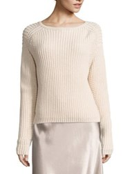 Vince Waffle Knit Cotton Pullover Shell