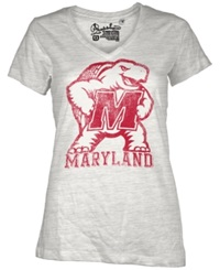 Royce Apparel Inc Women's Short Sleeve Maryland Terrapins T Shirt White