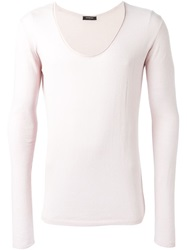 Unconditional Scoop Neck Sweater Pink And Purple