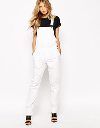 Noisy May Dungarees White