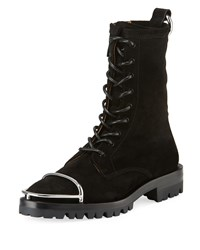 Alexander Wang Kennah Suede Lace Up Boots Black