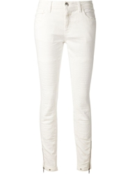 Closed Zipped Ankle Jeans White