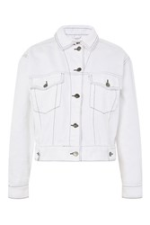 Topshop Moto Oversized Denim Jacket White