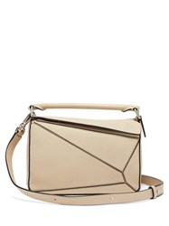 Loewe Puzzle Small Grained Leather Cross Body Bag Grey