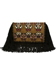 Isabel Marant Fringed Clutch Green