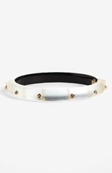 Alexis Bittar 'Lucite Neo Bohemian' Hinged Bangle Silver