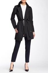 Soia And Kyo Rochelle Asymmetric Zip Trench Coat Black