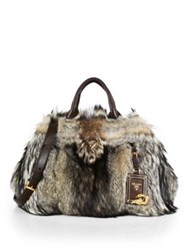 Prada Fox Fur Garden Bag