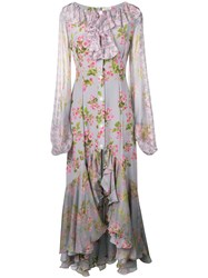Natasha Zinko Feminine Kaftan Maxi Dress Grey